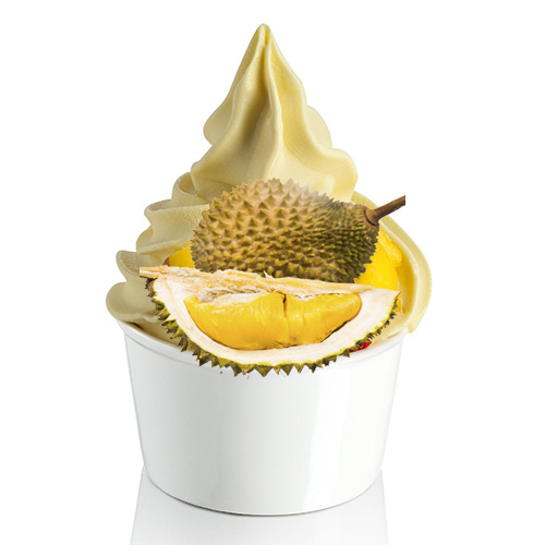 Durian soft ice cream